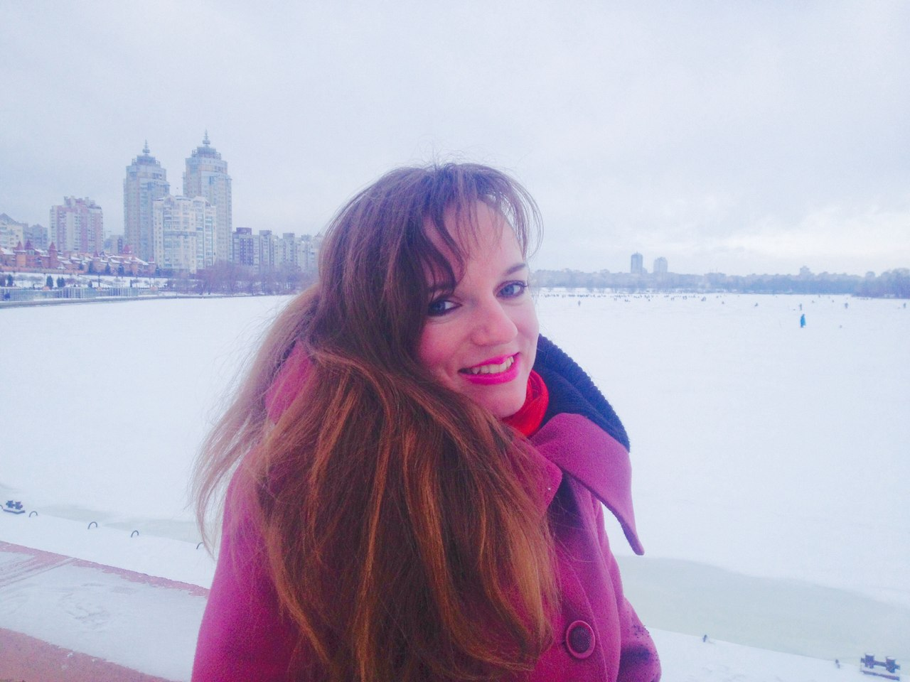 Snow-bound Russian woman